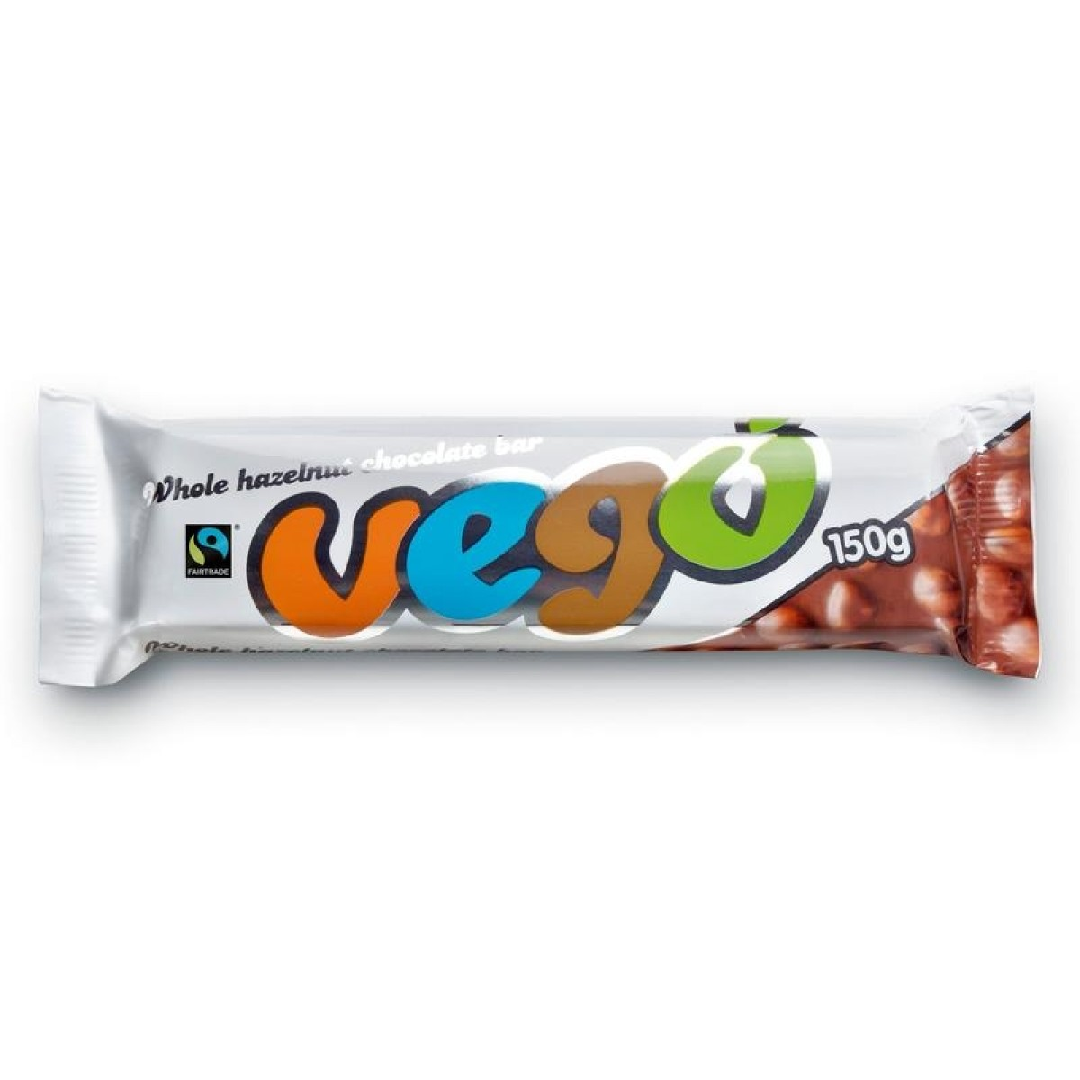 Chocoladereep met Hele Hazelnoten (150 gram)