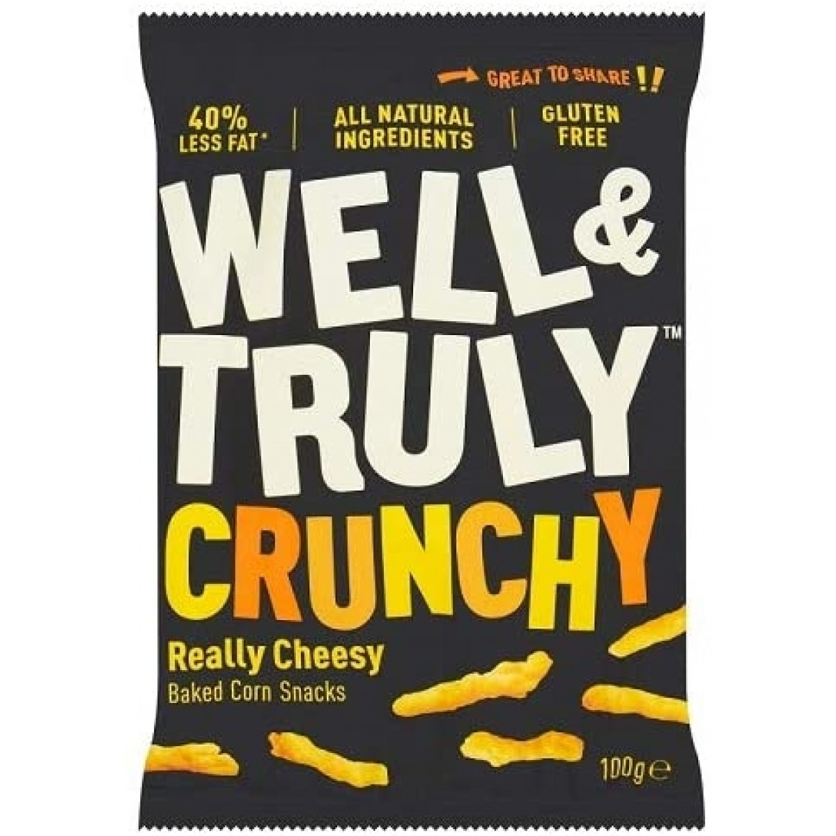 Corn Snacks Crunchy Really Cheesy 100 Gram