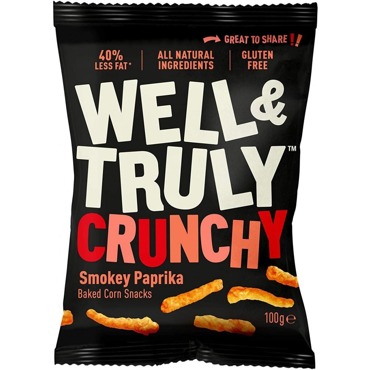 Corn Snacks Crunchy Smokey Paprika 100 gram