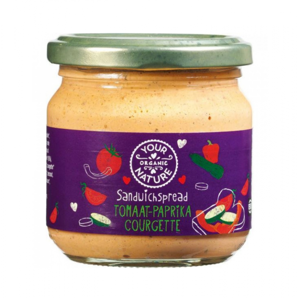 Tomaat-Paprika Courgette Sandwichspread