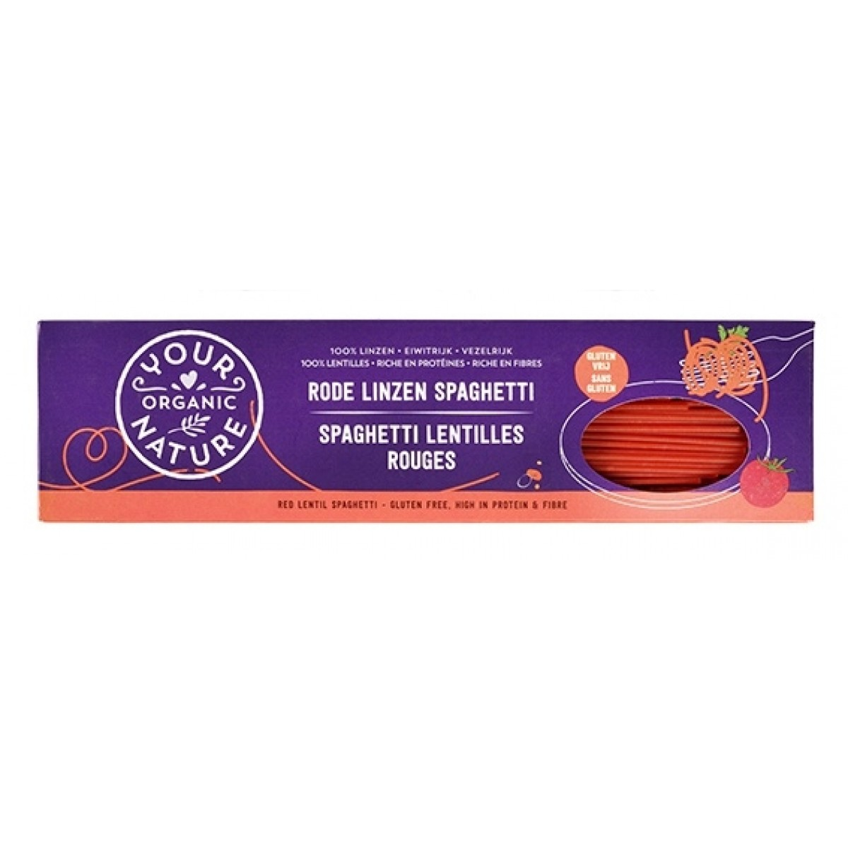 Rode Linzen Spaghetti