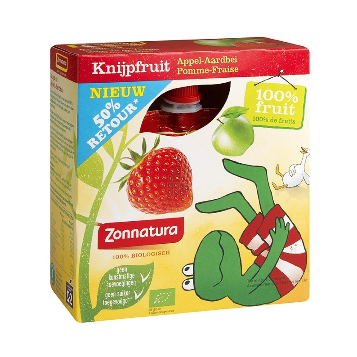 Knijpfruit Appel Aardbei Kikker