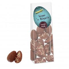 Vegan Chocolade Halve Paaseitjes Gekleurde Decoratie