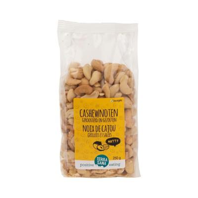 Terrasana Cashewnoten Geroosterd & Gezouten 250 gram