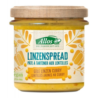 Allos Linzenspread Gele Linzen Curry