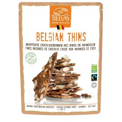 Belvas Chocoladebrokken Melk Kokos & Amandelen