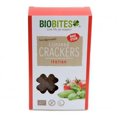 Biobites Lijnzaad Crackers Italian