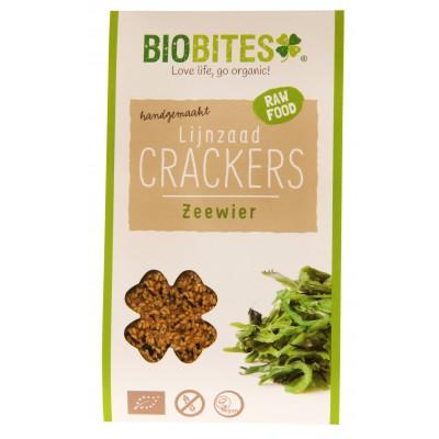 Biobites Lijnzaad Crackers Zeewier 30 gram