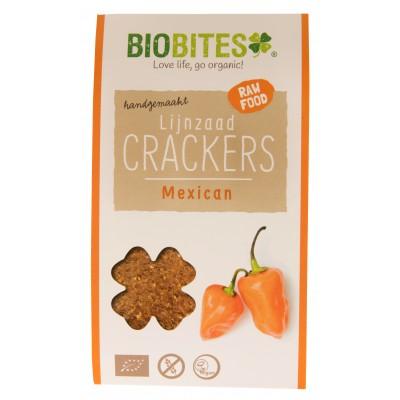 Biobites Lijnzaad Crackers Mexican 30 gram