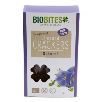 Biobites Lijnzaad Crackers Naturel