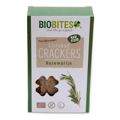 Biobites Lijnzaad Crackers Rozemarijn