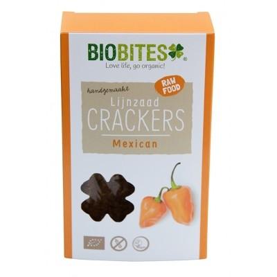 Biobites Lijnzaad Crackers Mexican