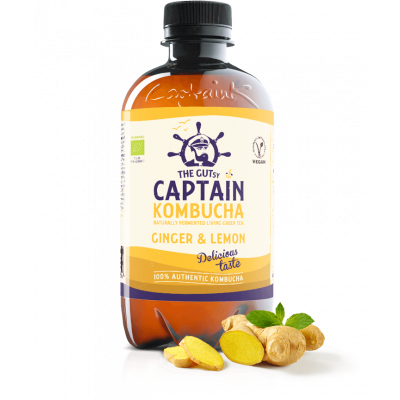 Captain Kombucha Kombucha Ginger & Lemon
