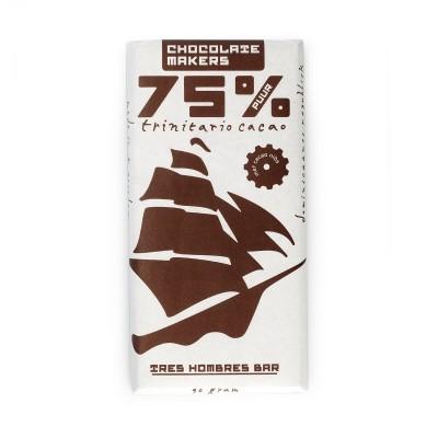 Chocolatemakers Tres Hombres Chocoladetablet Puur 75%