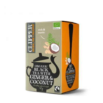 Clipper Black Tea Ginger & Coconut