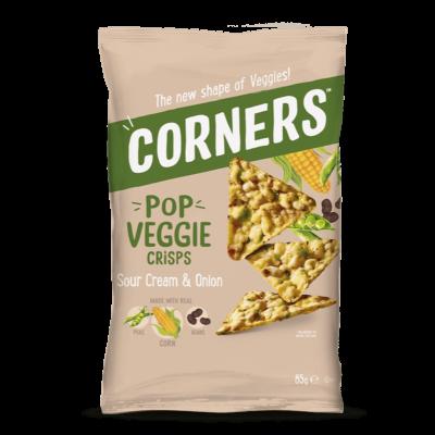 Corners Pop Veggie Crisps Sour Cream & Onion