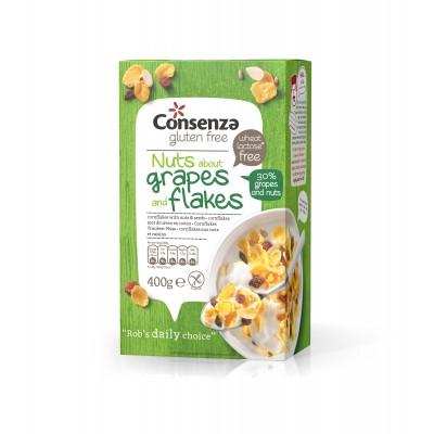 Consenza Cornflakes Druiven-Noten