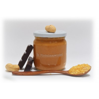 De Pindakaaswinkel Pindakaas Belgische Karamel Chocolade