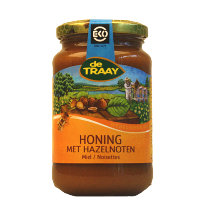 De Traay Honing Met Hazelnoten Biologisch