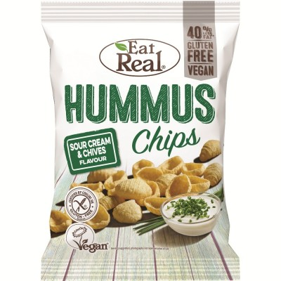 Eat Real Hummus Chips Sour Cream & Chives