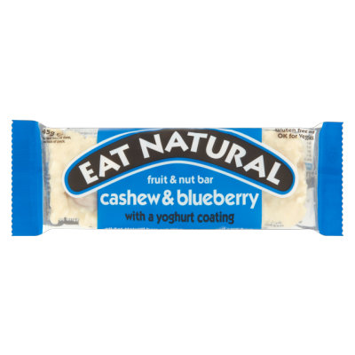 Eat Natural Cashew And Blueberry With A Yoghurt Coating Bar