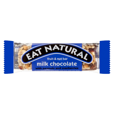 Eat Natural Milk Chocolate With Peanuts And Cranberries Bar