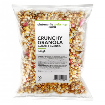 Glutenvrije Webshop Basics Crunchy Granola Aardbei & Amandel