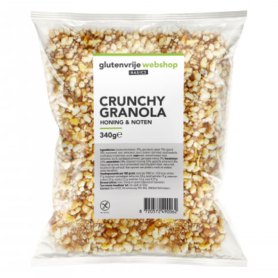 Glutenvrije Webshop Basics Crunchy Granola Honing & Noten