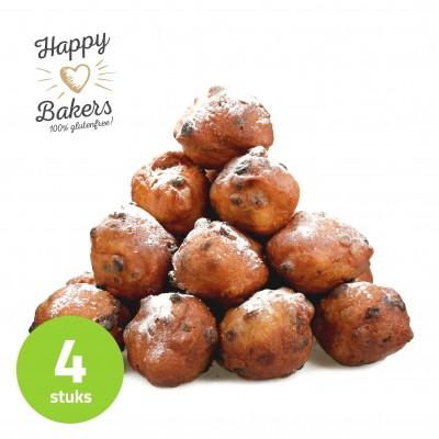 Happy Bakers Oliebollen Met Rozijnen Lactosevrij (4 stuks)