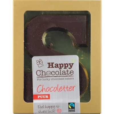 Happy Chocolate Chocoletter Puur