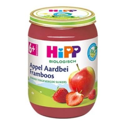 HiPP Appel Aardbei Framboos 6+ Maanden