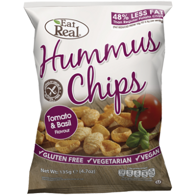 Eat Real Hummus Chips Tomaat & Basilicum