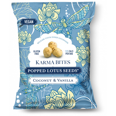Karma Bites Popped Lotus Seeds Coconut & Vanilla