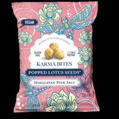 Karma Bites Popped Lotus Seeds Himalayan Pink Salt