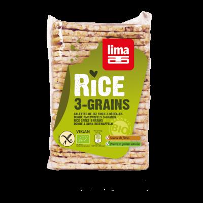 Lima Rijstwafels Drie Granen Dun