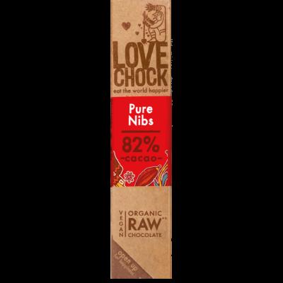Lovechock Chocoladereep Pure/Nibs