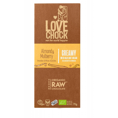 Lovechock Chocoladetablet Hazelnoot Almond & Mulberry