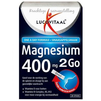 Lucovitaal Magnesium 400 2Go Sticks