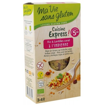 Ma Vie Sans Gluten Cuisine Express Rijst & Linzen Indische Wijze