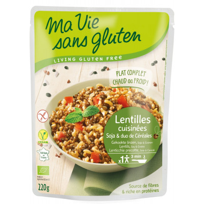 Ma Vie Sans Gluten Gekookte Linzen Met Soja & Granen