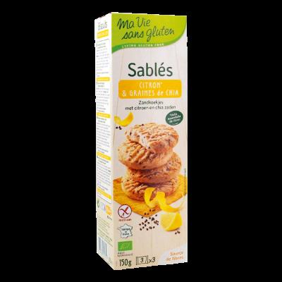 Ma Vie Sans Gluten Zandkoekjes Citroen & Chiazaden