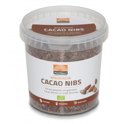 Mattisson Cacao Nibs Raw 400 gram