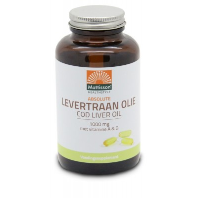 Mattisson Levertraanolie 1000 mg Vitamine A/D