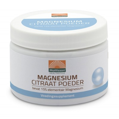 Mattisson Magnesium Citraat Poeder 16% Elementair
