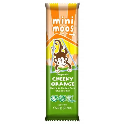 Moo Free Mini Moos Chocolade Cheeky Orange Lactosevrij