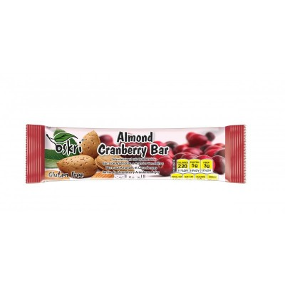 Oskri Almond Cranberry Bar