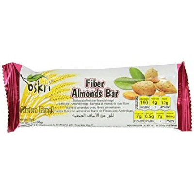 Oskri Fiber Almonds Bar
