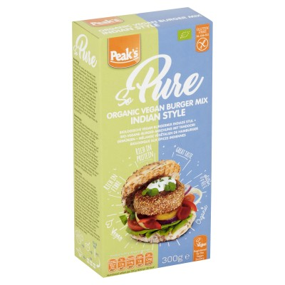 Peak's Vegan Burger Mix Indiase Stijl