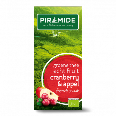 Piramide Groene Thee Cranberry & Appel