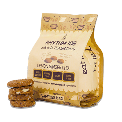 Rhythm 108 Lemon Ginger Chia Biscuits